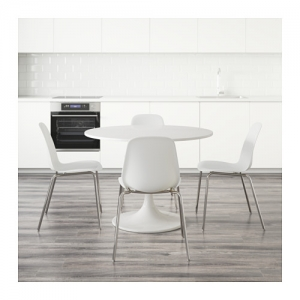 이케몰,IKEA 이케아 DOCKSTA / LEIFARNE 테이블+의자4, 화이트 (591.839.41)